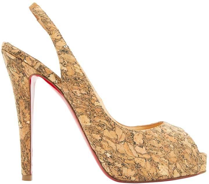 Christian Louboutin Brown Leather Heels