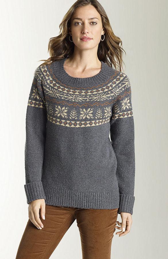 J. Jill Fair isle elliptical sweater