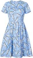Carolina Herrera Zebra Print Midi Dress