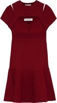 Valentino Layered Cutout Knitted Mini Dress