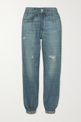 Rag & Bone Miramar Printed Cotton-jersey Track Pants - Mid denim
