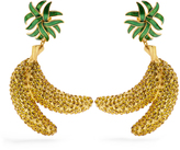 Dolce & Gabbana Crystal-banana clip-on earrings