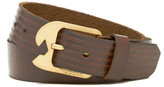 Volcom Ostrich Embossed Leather Belt