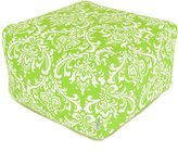 Majestic Home Goods Hot and White French Quarter Ottoman, Large