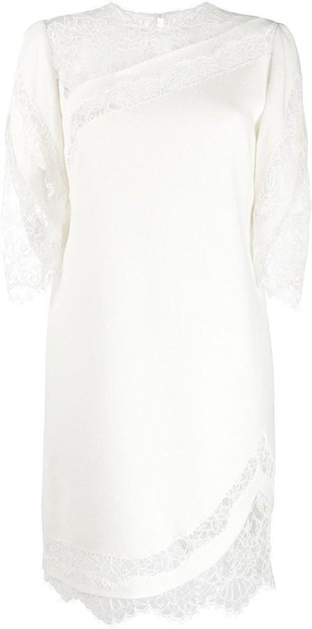 Ermanno Scervino Floral Lace-Detail Dress