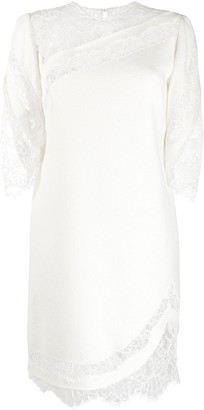 Ermanno Scervino Floral Lace-Detail Dress