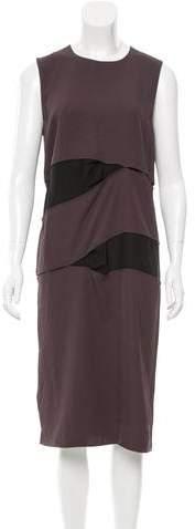 Acne Studios Silk-Paneled Midi Dress w/ Tags