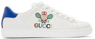 Gucci White Tennis Ace Sneakers