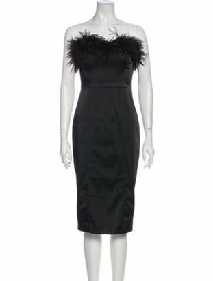 Veronica Beard Strapless Mini Dress Black