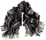 Molvino Black and Grey Italian Wool Scarf