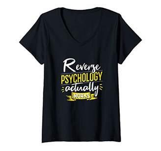 Womens Psychology More Powerful Than Logic V-Neck T-Shirt