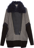 Preen Line Sally cable-knit biker cardigan