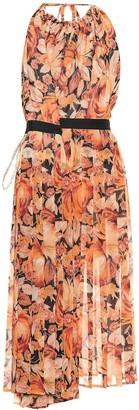 Y/Project Floral chiffon halter dress