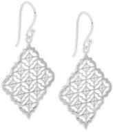 Giani Bernini Filigree Square Drop Earrings in Sterling Silver, Created for Macy's