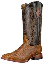 Ferrini Men's Print Belly Caiman Honey Square Toe Western Boot