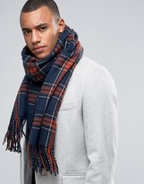 Jack and Jones Scarf in Woven Check