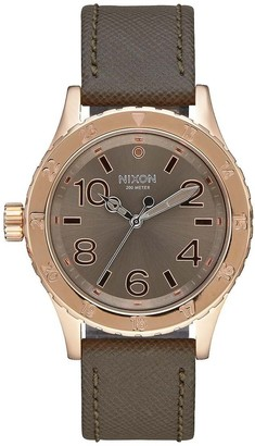 Nixon Unisex Adult Analogue Quartz Watch with Leather Strap A467-2214-00