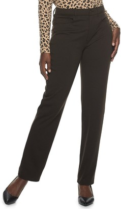 Croft & Barrow Women's Straight-Leg Ponte Pants