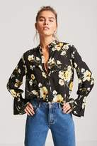Forever 21 Floral Button-Up Shirt