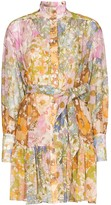 Zimmermann belted floral-print mini dress