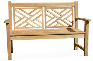 "Regal Teak Teak Chippendale 48"" Bench natural"