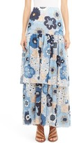 Chloé Women's Floral Print Tiered Maxi Skirt