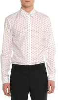 Givenchy Cross-Printed Woven Shirt, White