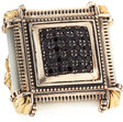 konstantino silver 18k square motherofpearl spinel ring