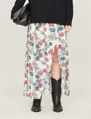Zadig & Voltaire Josia floral-print crepe midi skirt