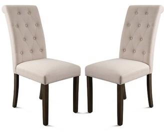Ophelia Wimbush Tufted Velvet Upholstered Parsons Chair In Beige & Co.