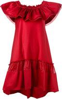 Alberta Ferretti off-shoulder shift dress - women - Silk/Cotton/other fibers - 40