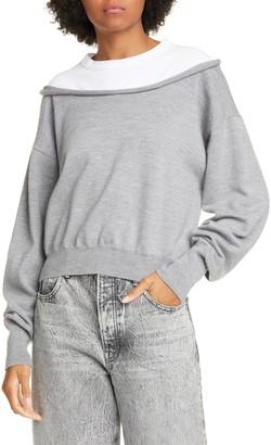 Alexander Wang Peelaway Bi-Layer Crop Sweater