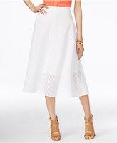 Alfani Eyelet A-Line Skirt, Only at Macy's
