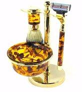 Harry D. Koenig 5 Piece Shave Set for Men, Tortoise