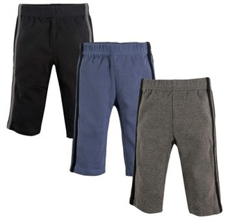 Hudson Baby Toddler Boy Athletic Pants, 3-Pack