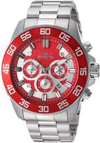 Invicta Men's 'Pro Diver' Quartz Stainless Steel Casual Watch, Color:Silver-Toned (Model: 24722)