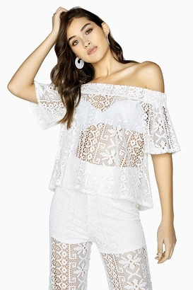 Girls On Film Marlin Lace Off The Shoulder Top