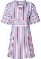 MAISON KITSUNÉ striped V-neck dress