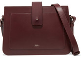 A.P.C. Atelier de Production et de Création - Albane Leather Shoulder Bag - Burgundy