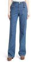 See by Chloe Women's Wide Leg Denim Trousers