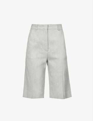 Sportmax Ricordo slim-leg mid-rise woven shorts