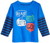 First Impressions Layered-Look Word-Print Cotton T-Shirt, Baby Boys, Created for Macy's