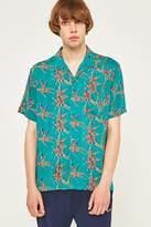 Stussy Bamboo Teal Rayon Shirt