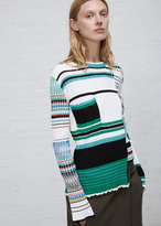 Ports 1961 colorblock stripe long sleeve rib sweater