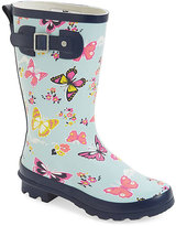 Western Chief Sky Blue Floral & Butterfly Rain Boot