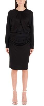 Diane von Furstenberg Long-Sleeves Draped Dress