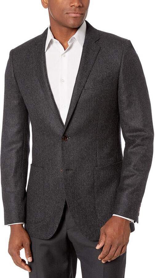 Brand BUTTONED DOWN Mens Slim Fit Super 110 Italian Wool Hopsack Blazer Suit Jacket