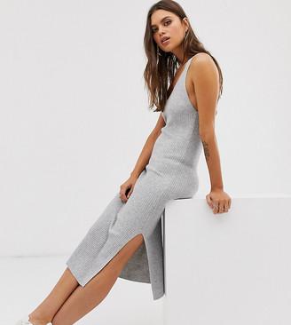 Micha Lounge wide strap cami midi dress-Grey