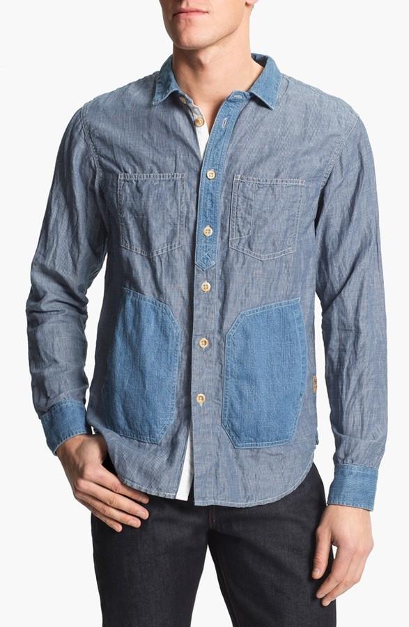 PRPS Stripe Chambray Woven Shirt