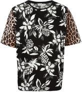 Saint Laurent contrast print T-shirt